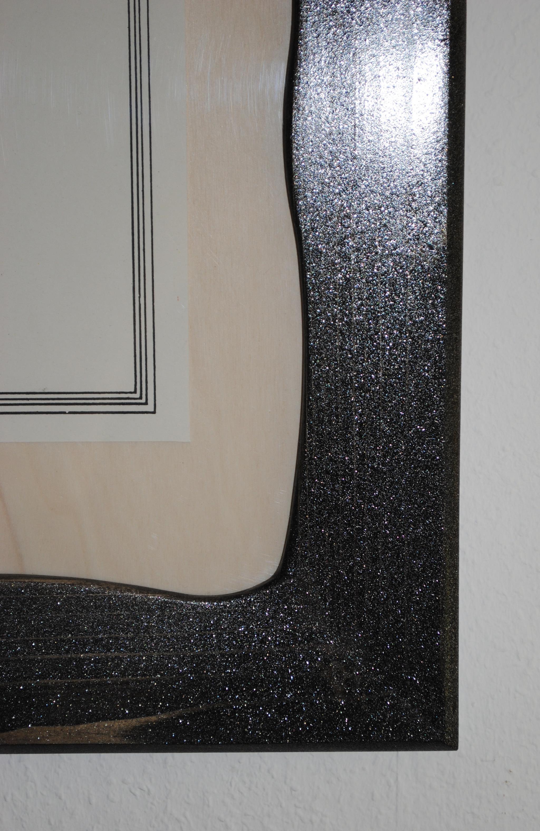 Bilderrahmen Kiefer mit Diamant-Effekt (BR-09)